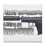 HK USP Handgun Silencer Tile Coaster