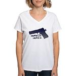 1911 Cocked & Locked Women's V-Neck T-Shirt