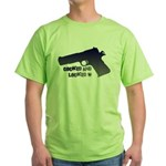 1911 Cocked & Locked Green T-Shirt