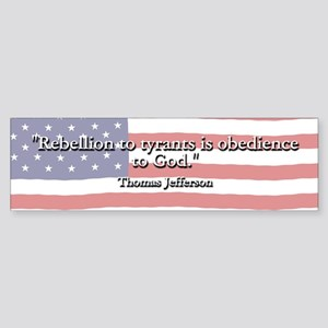 Thomas Jefferson: Rebellion To Tyrants Sticker (Bu