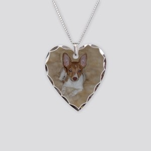 Rat Terrier Necklace Heart Charm