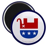 Dead Republican Elephant Magnet