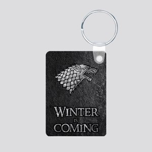 GOT WINTER IS COMING 2 Aluminum Photo Keychain