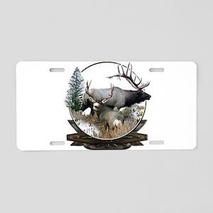 Big Game Elk and Deer Aluminum License Plate