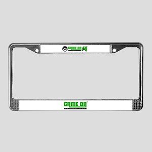 Game On License Plate Frame