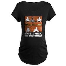 Retired Chick Maternity Dark T-Shirt