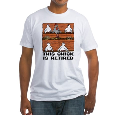 Retired Chick Fitted T-Shirt