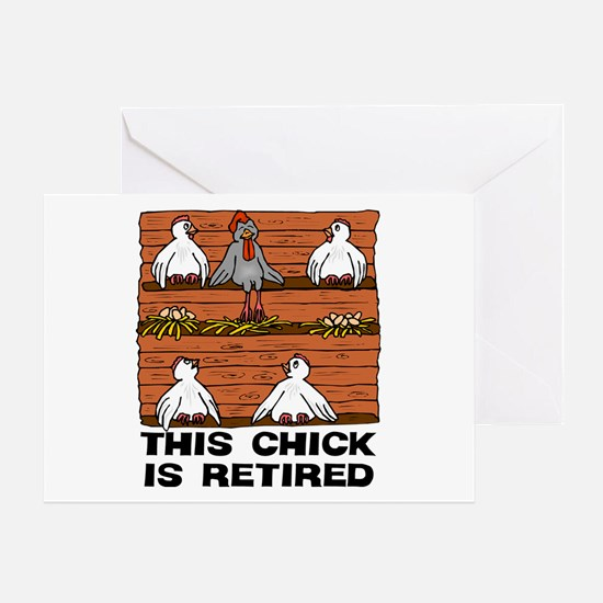 Retired Chick Greeting Card