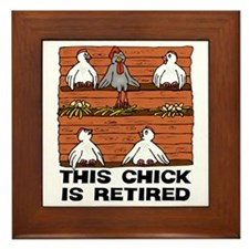 Retired Chick Framed Tile