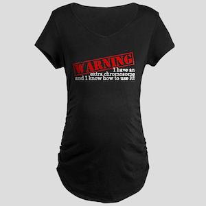 Warning Maternity Dark T-Shirt