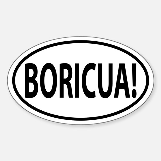Boricua oval decal