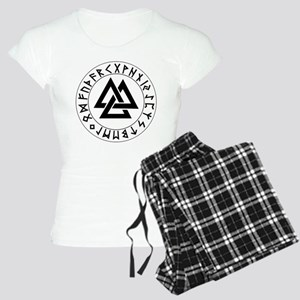 Triple Triangle Rune Shield Women's Light Pajamas
