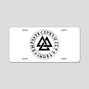 Triple Triangle Rune Shield Aluminum License Plate
