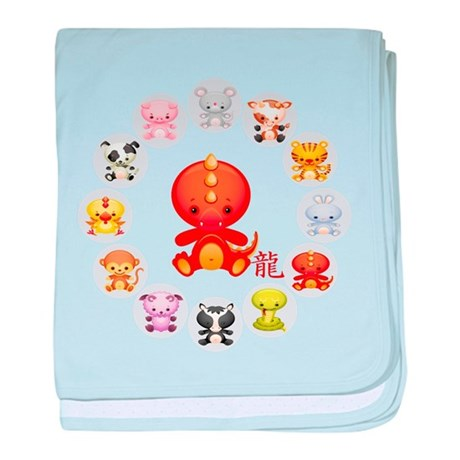 Cute Year of The dragon 2012 baby blanket