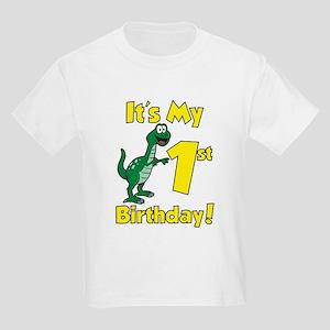 Dinosaur 1st Birthday Kids Light T-Shirt
