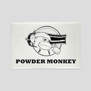 Powder Monkey Rectangle Magnet