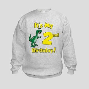 Dinosaur 2nd Birthday Kids Sweatshirt