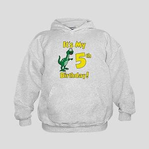 Dinosaur 5th Birthday Kids Hoodie