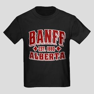 Banff Old Style Canada Red Kids Dark T-Shirt