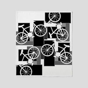 Bike Rectangles Throw Blanket