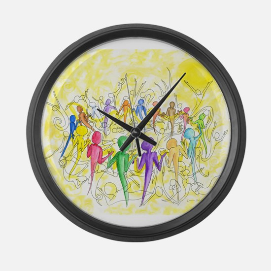 One Breath Large Wall Clock