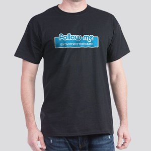 Personalizable Twitter Follow Me Dark T-Shirt