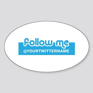 Personalizable Twitter Follow Sticker (Oval)