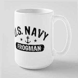 U.S. Navy Frogman Large Mug