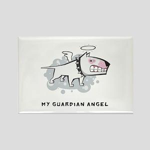Angel Bull Terrier Rectangle Magnet