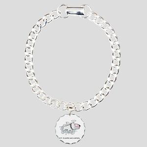 Angel Bull Terrier Charm Bracelet, One Charm