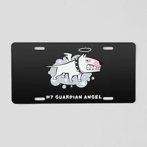 Angel Bull Terrier Aluminum License Plate