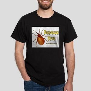 Bed Bugs Bite Black T-Shirt