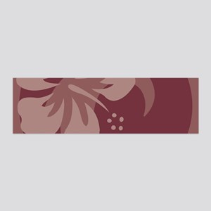 Hibiscus Brown 36x11 Wall Decal