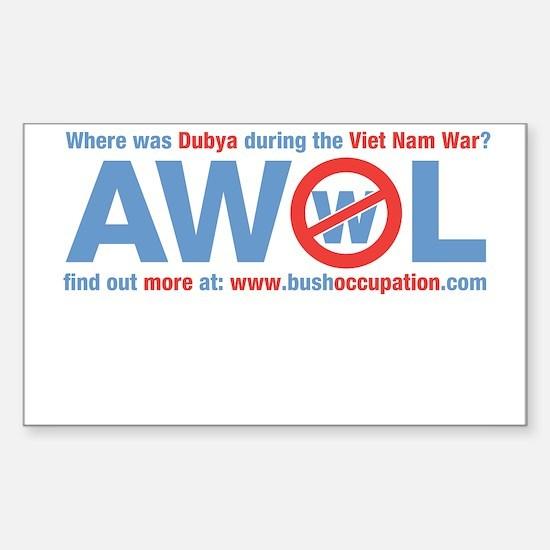 AWOL Bush Sticker - we make $2
