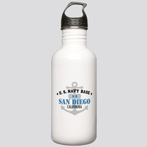 US Navy San Diego Base Stainless Water Bottle 1.0L