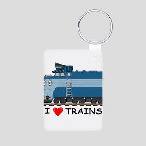 HATWHEEL TRAIN Aluminum Photo Keychain