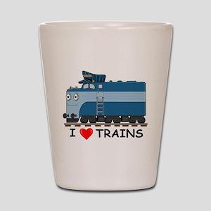 HATWHEEL TRAIN Shot Glass