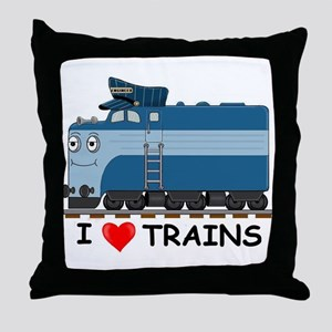 HATWHEEL TRAIN Throw Pillow