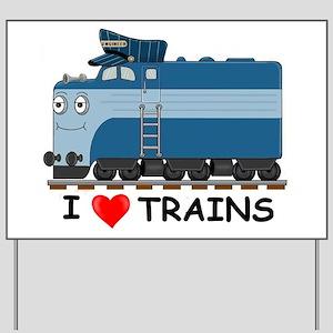 HATWHEEL TRAIN Yard Sign