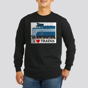 HATWHEEL TRAIN Long Sleeve Dark T-Shirt