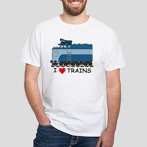 HATWHEEL TRAIN White T-Shirt