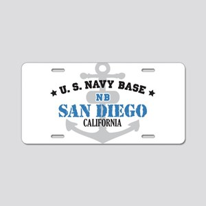 US Navy San Diego Base Aluminum License Plate