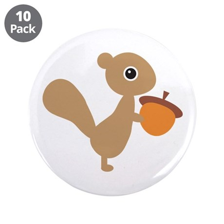 "Squirrel 3.5"" Button (10 pack)"