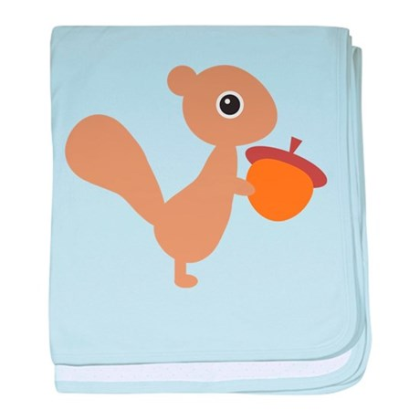 Squirrel baby blanket
