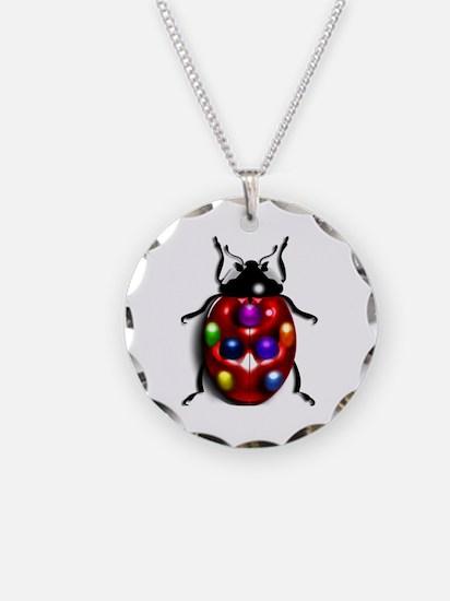 Ladybug Colorful Gem Dots Necklace