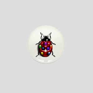 Ladybug Colorful Gem Dots Mini Button