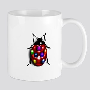 Ladybug Colorful Gem Dots Mug