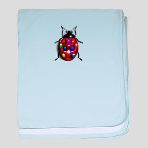 Ladybug Colorful Gem Dots baby blanket