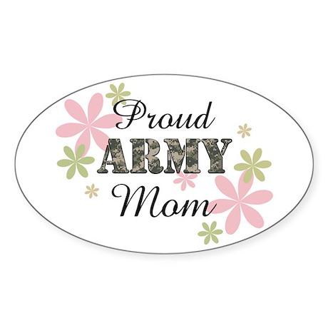 Proud Army Mom [fl2] Sticker (Oval)