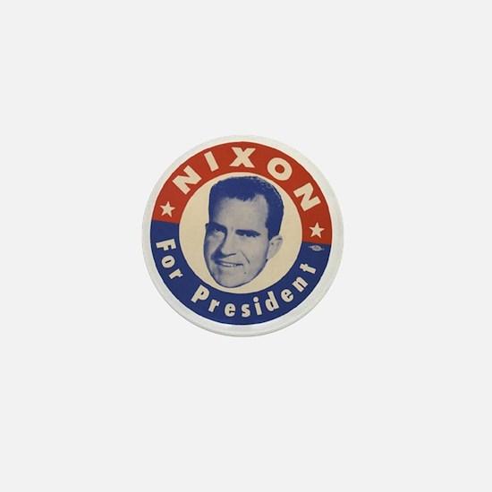 Cute President nixon Mini Button